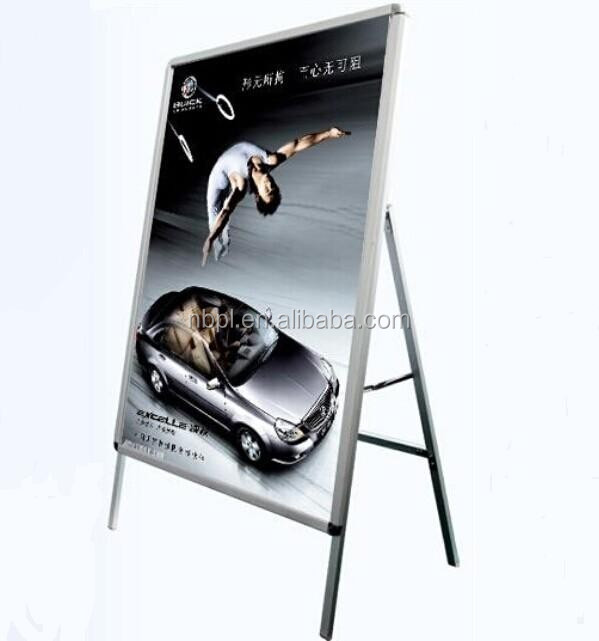 outdoor sign poster stand board with singe side