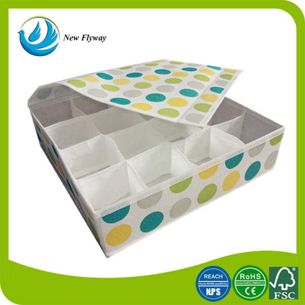new product colorful non woven sundry folding sock foldable storage box with cover