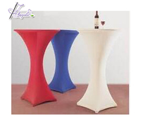 60cm *110cm H colored lycra spandex high cocktail table covers for cocktail tables, couvertures de table spandex