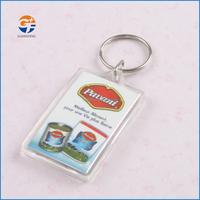 Fancy Promotion Custom Clear Plastic Acrylic Keychains