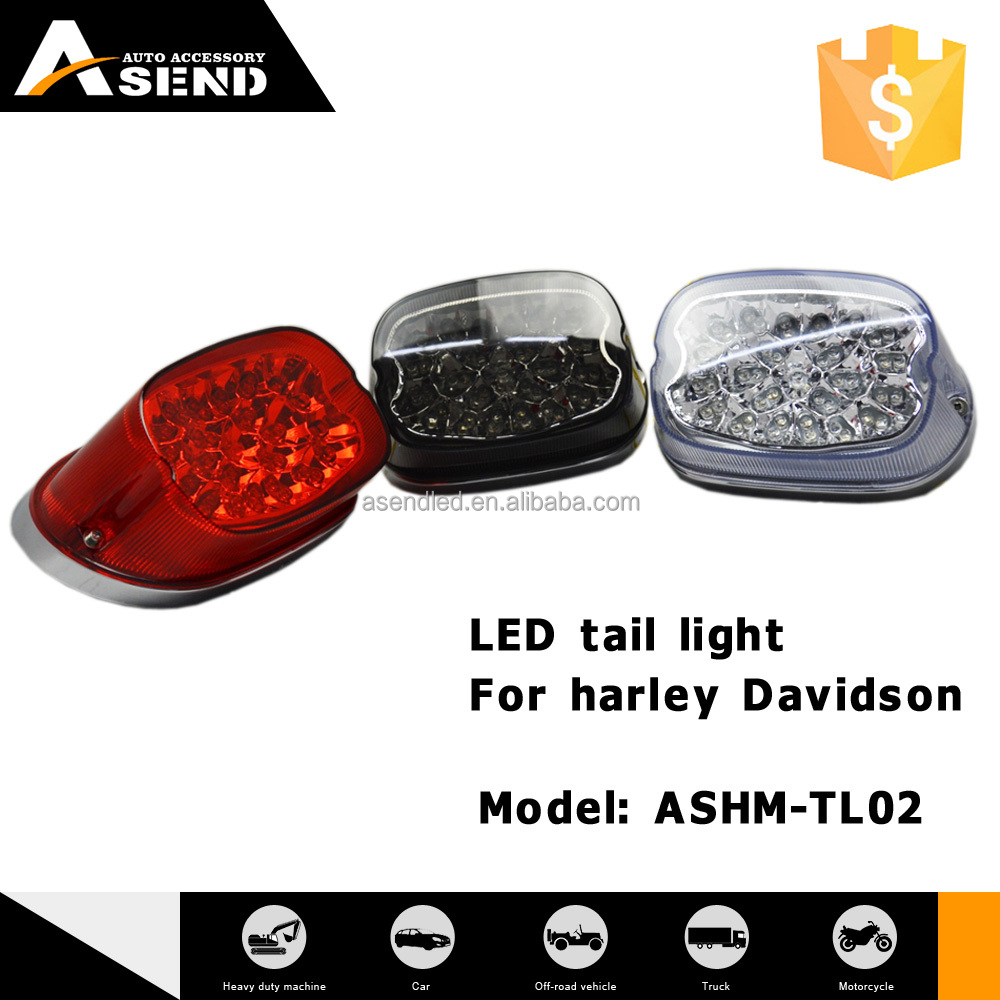 red smoking white brake led tail light for harley XL883