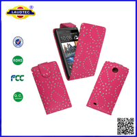 For HTC Desire 300 Diamond Leather Magnetic Flip Protection Case Cover