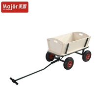 Children four wheel tools wagon cart with wooden sides