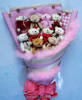 Plush Toy Bouquet/2016 New Wholesale for Girls Valentine Gift Plush Toy Bouquet/Plush Teddy Bear Toy Bouquet