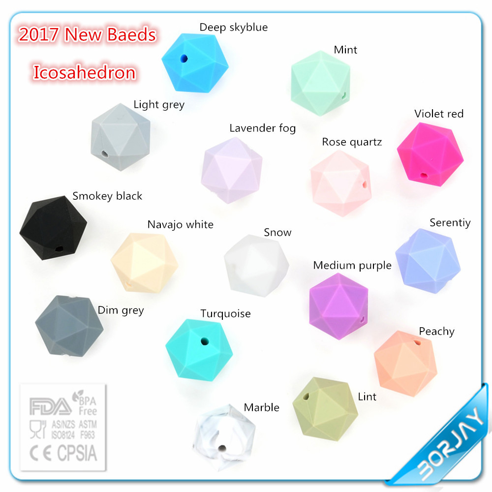 Popular Borjay FDA Approved Silicone Baby Teething Beads
