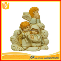 Hight quality religious craft resin holy family statue nativity scene