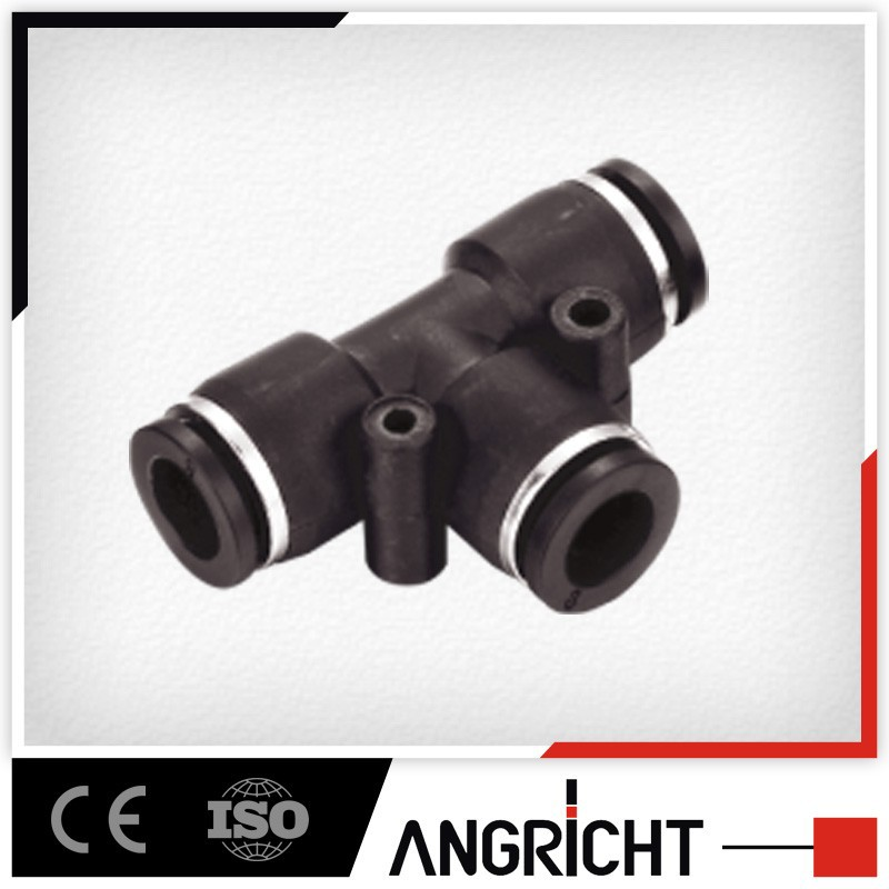 A107 PUT plastic union tee pneumatic pipe fittings pvc flexible plumbing tee reducer connector