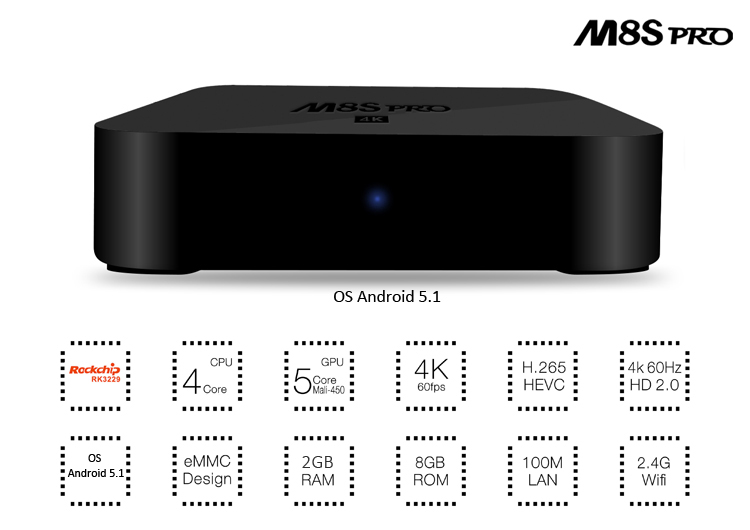 M8S-pro kodi 15.2 xbmc hindi channels android tv box, low cost cable set top box price, 4k quad core ott tv box