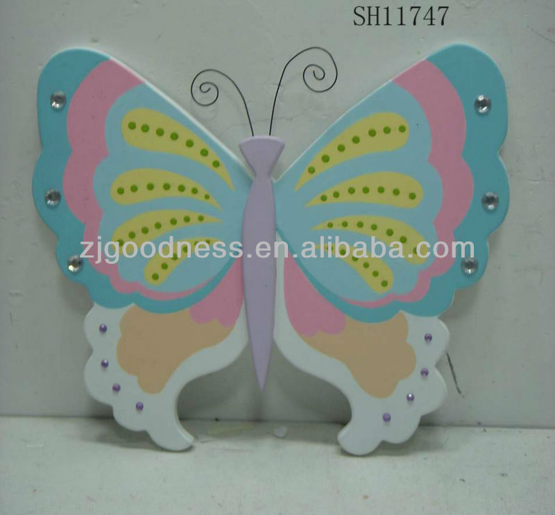 HOT SALE 11''H BEUTIFUL BUTTERFLY WALL PLAQUE W/ARTIFICIAL STONE WHOLESALE