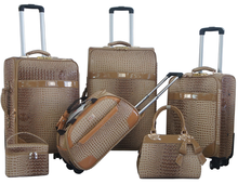 PU leather luggage set with duffle bag hand bag make up case