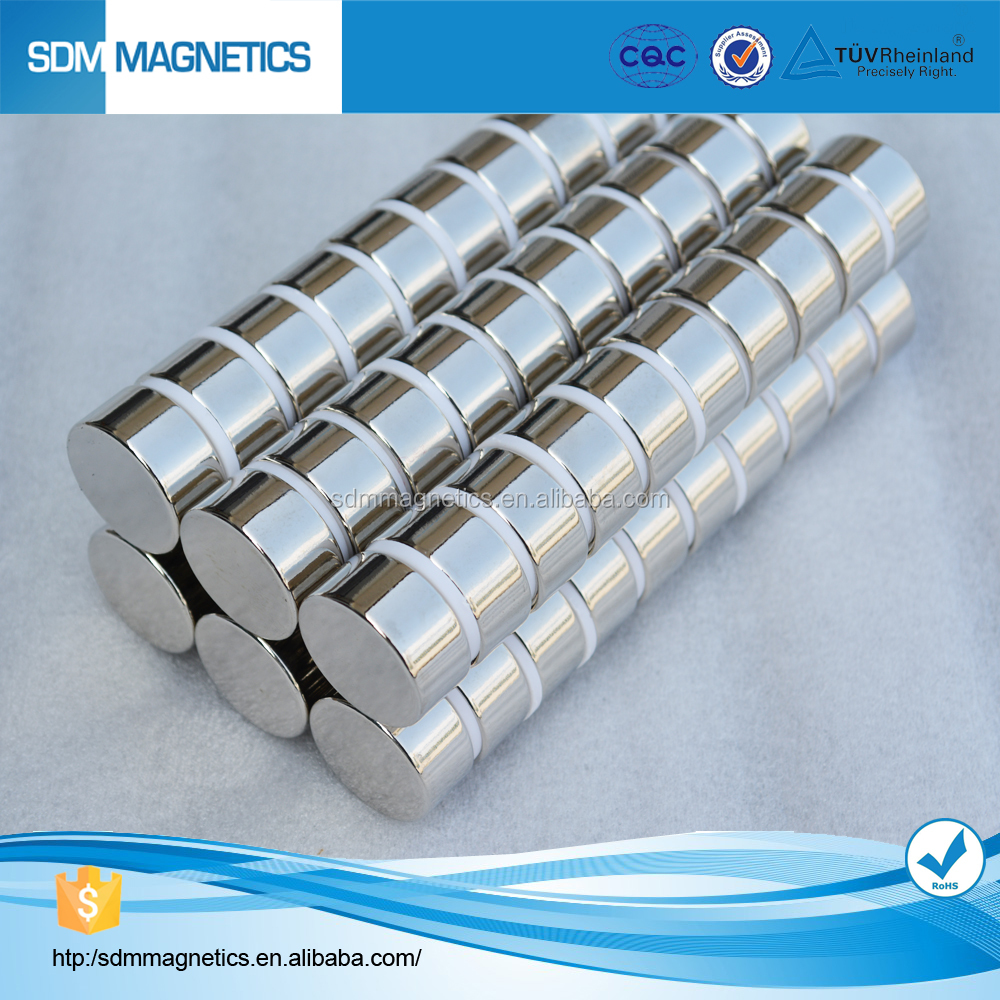 TS16949 Certificated N52 Permanent Neodynium Cylinder Magnet