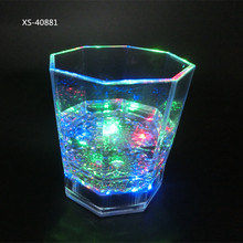 Non-toxic Plastic Colorful Flashing Light UP LED Cup Shot Glass For Bar Party Halloween Christmas Romantic Drinking