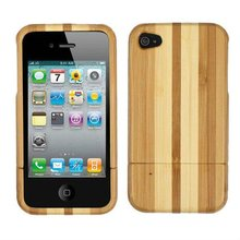Genuine Natural Bamboo Wood Hard Back Cover Case Skin for Apple iphone 4S 4 4G