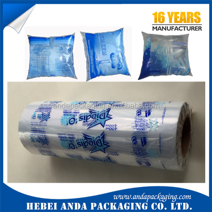 Plastic Film Roll For Water Sachet 500ml Sachet Water