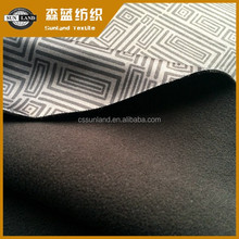printing interlock and polar fleece bonded fabric for winter fashion coat