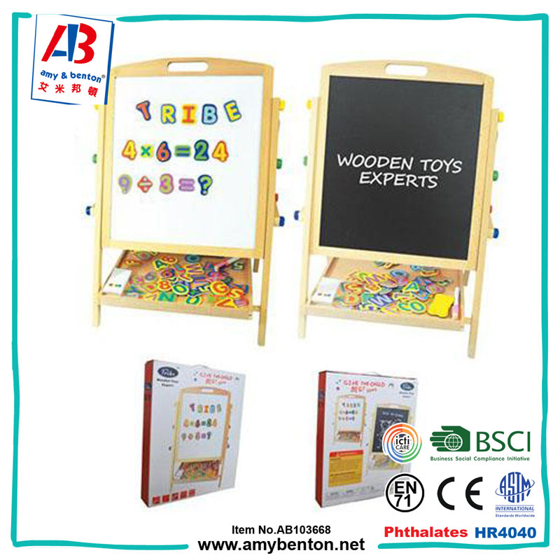 Educational wooden drawing board magnetic puzzle toy for kids