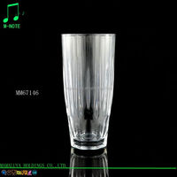2016 china manufacturer shatterproof unique shape clear drinking glass tumbler