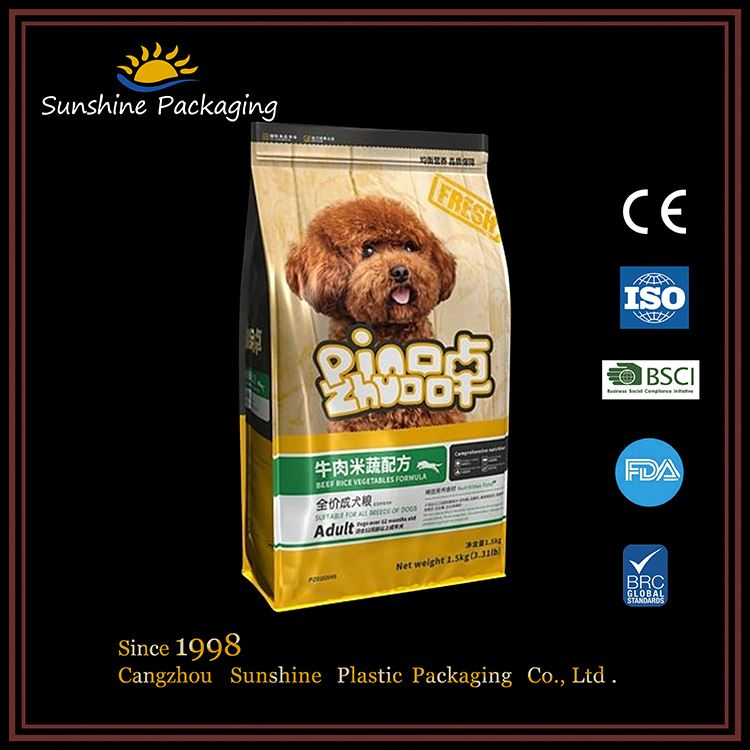 Frozen meat food packaging zip aluminium foil pouches with window