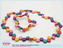 Popular necklace acrylic bead jewelry set for children