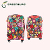 2014 hot sell cheap lightweight abs+pc travel trolley luggage suitcase for girls