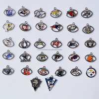 32 NFL teams charms enamel football Sports charms for bracelet
