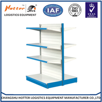 China supplier of Double side Slat back panel grocery store shelf &supermarket shelf