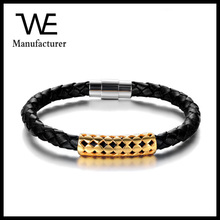 Fashion Simple Style Gold Stainless Steel Cord Bracelets For Men Designs Images