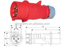 Newly developed TIBOX fireproof industrial plug double male electrical plug