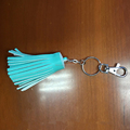 Wholesale custom-made decorative keychain tassel,fashion colorful leather tassel keychain