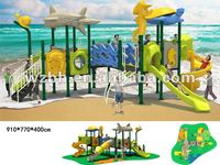 Outdoor Play Equipment For Kids Funny Galvanized Plastic Slide BH1801
