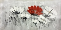 Modern Wall Decor Handpainted Abstract Flower Canvas Oil Painting