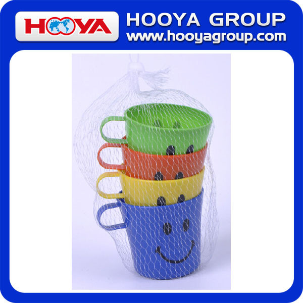 4 pcs Promotional plastic cups wholesale cheap unbreakable plastic cup