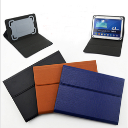 "10""Size silicone Material case with leather case for ipad"