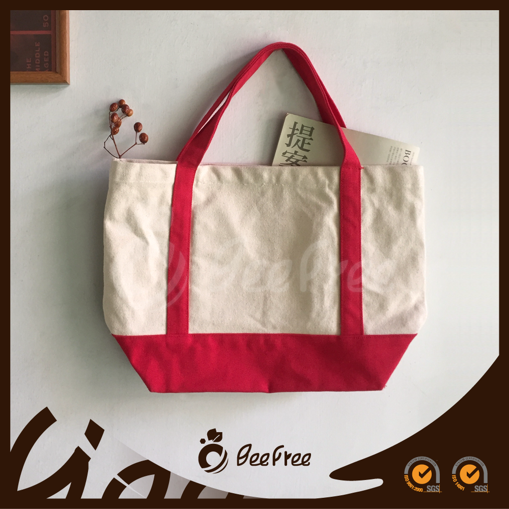 New Style Fashion Top Quality Durable Cotton Canvas Tote Bag