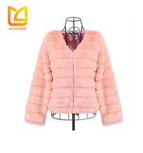 Warm short winter chinchilla parka fur jacket women mink fur coat