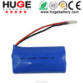 3.7V 2600mAh ICR18650 rechargeable lithium ion battery