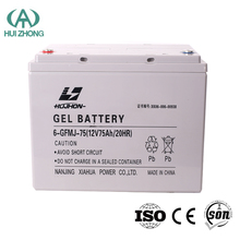 12V 75ah Maintenance Free Lead Acid SLA VRLA Gel Deep Cycle Solar PV UPS Rechargeable Battery