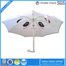 aluminum frame light 5 fold umbrella