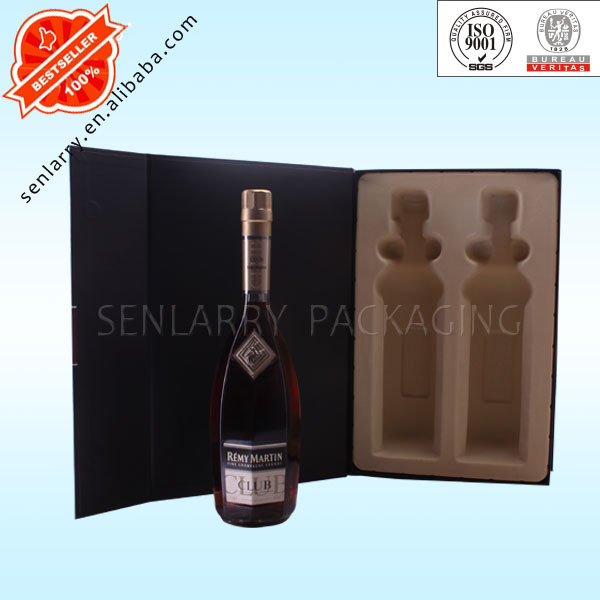 Luxury flat paper gift box for wine packing