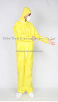 Laminated coverall with hood /chemical suit/workwear/safety clothing