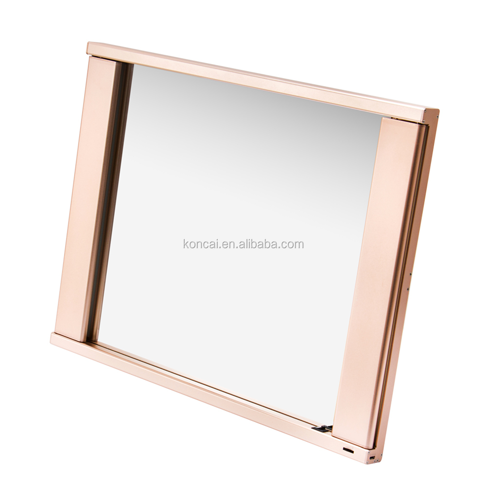 Professional LED lighting make up mirror, magnifying mirror lamp, modern mirror with aluminum frame and 2 pcs light tubes