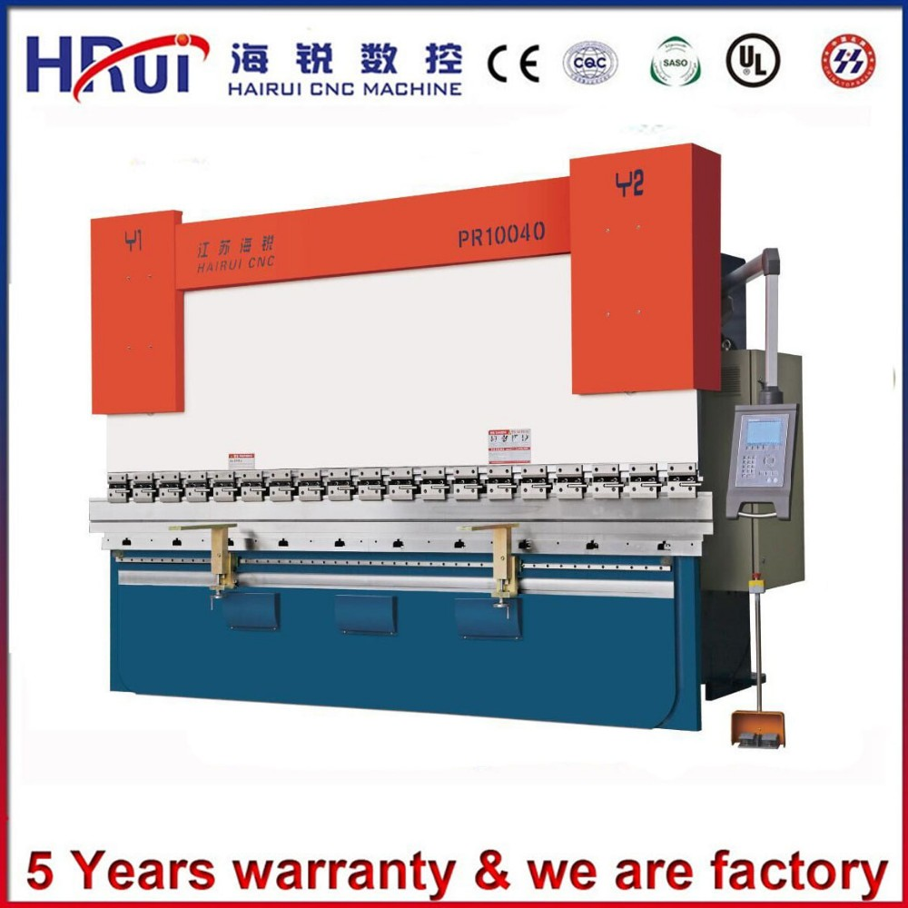 Export to <strong>U</strong>.S.A 50T 2200mm DA 41 CNC hydraulic sheet metal press brake with CE certification