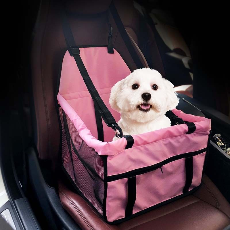 Waterproof Pet Carrier Safety Car Seat Belt Cover Booster Bag Mat Car For Puppy
