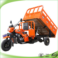 200cc water cooling gasoline cargo dumper tricycle