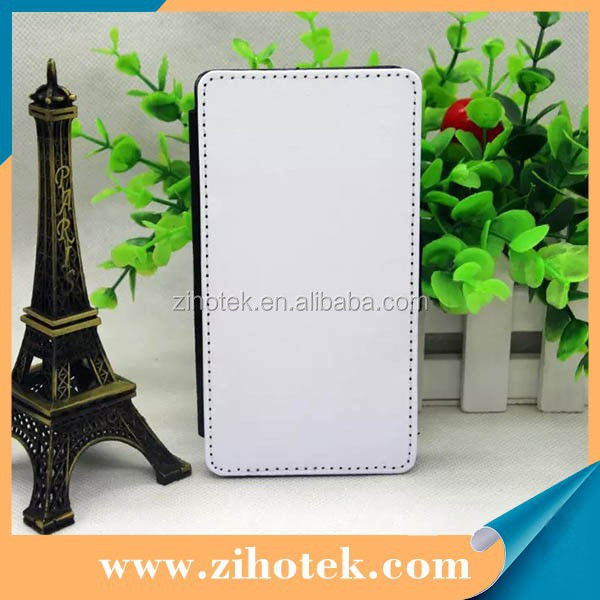 Leather filp sublimation cover for Sony Z L36i with 2D heat transfer printing