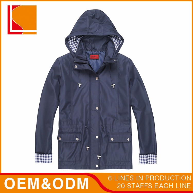 Long Light Micro Pu Autumn Woman Jacket With Hooded