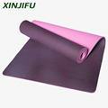 High Density TPE Yoga Mat Two layer Anti tear with Carrying Straps indoors in Gymnastics exercise and fitness for bodybuilding