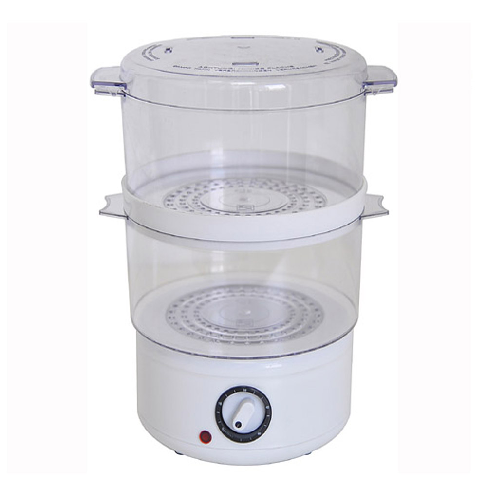 home electric 2 layer plastic food steamer