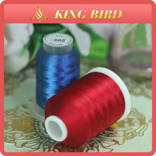 Color Pattern 100% Royal Viscose Rayon Embroidery Thread 120d/2
