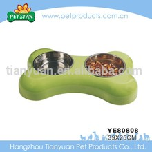 Wholesale Cheap Travel Bone Shaped Dog Food Stainless Steel Dog Bowl